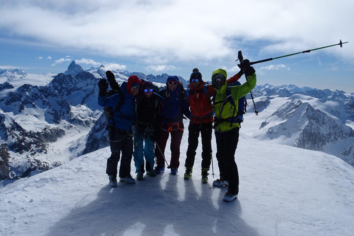 Le sommet de la Pigne d'Arolla (3796m)
